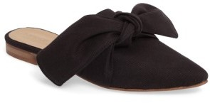 Women's Topshop Adele Bow Flat Mule $45 thestylecure.com