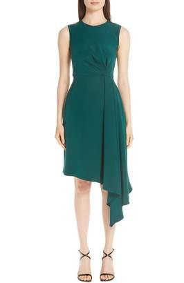 ADAM by Adam Lippes Silk Crepe Side Drape Dress