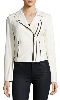 Joie Hayworth Leather Moto Jacket, White $998 thestylecure.com