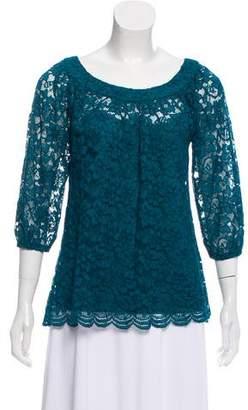 Diane von Furstenberg Lace Long Sleeve Blouse