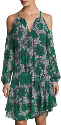 Donna Morgan Floral-Print Cold-Shoulder Boho Dress $99 thestylecure.com