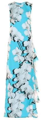 Roberto Cavalli Floral silk dress