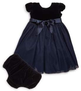 Ralph Lauren Baby's Velvet& Tulle Dress& Bloomers Set