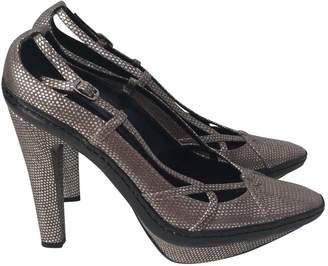 Celine Metallic Leather Heels