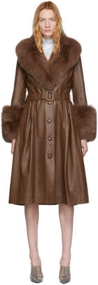 Saks Potts Brown Foxy Coat