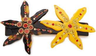Swarovski MC Davidian Crystal-Embellished Acetate Hairclip