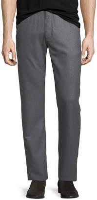Ermenegildo Zegna Stretch-Flannel Five-Pocket Pants, Medium Gray