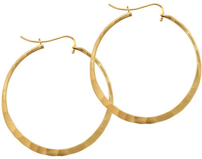 Rebecca Norman Gold Vermeil Hammered Hoops