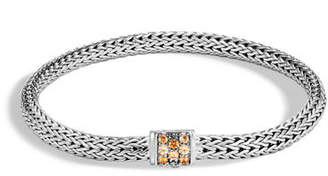 John Hardy Classic Chain Extra Small Pavé Pusher Clasp Bracelet