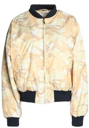 Ganni Quilted Printed Shell Bomber Jacket