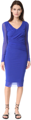 Fuzzi Long Sleeve V Neck Dress $425 thestylecure.com