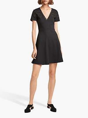 French Connection Vachel Flare Dress, Black