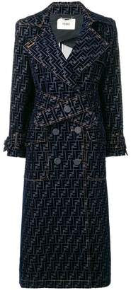 Fendi FF motif trench-style coat