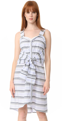 Derek Lam 10 Crosby Sleeveless Tie Front Dress $395 thestylecure.com