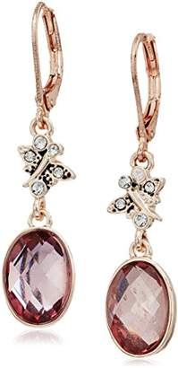 lonna & lilly Rose Gold Stone Double Drop Earrings