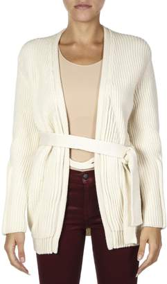 Maison Margiela Cream Wool Long Cardigan