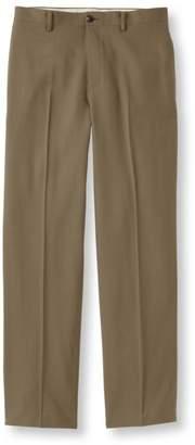 L.L. Bean L.L.Bean Washable Year-Round Wool Pants, Classic Fit Plain Front