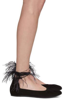 Ann Demeulemeester Black Feather Ballerina Flats