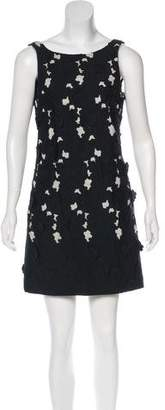 Tibi Floral Accent Mini Dress