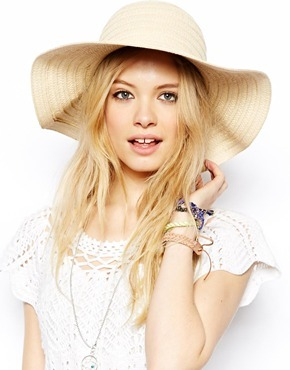 ASOS Straw Floppy Hat - Natural