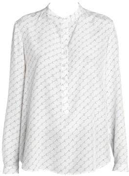 Stella McCartney Stella Monogram Ava Half Button Blouse
