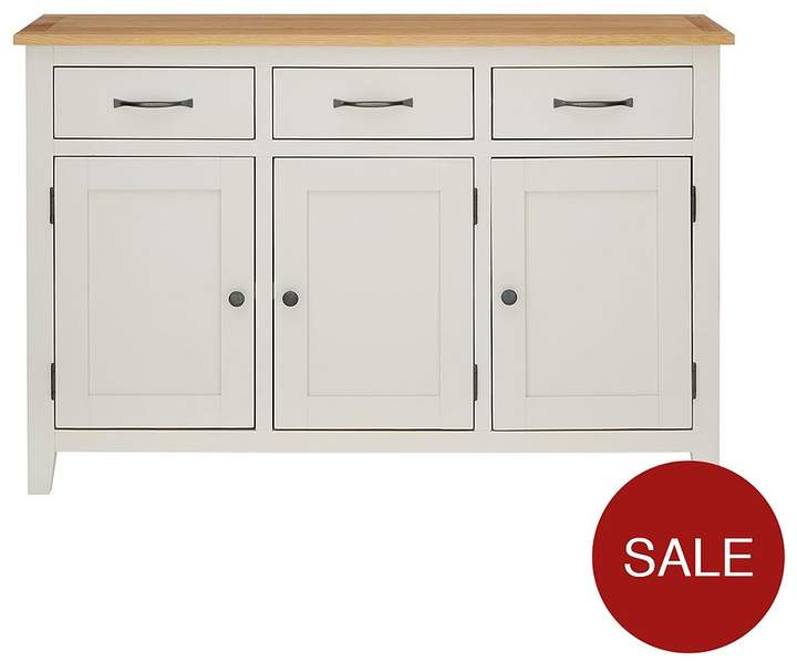 Luxe Collection Luxe Collection - Chelsea Painted Ready Assembled Large Sideboard With Oak Top