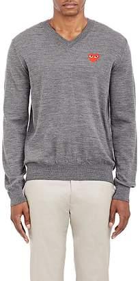 Comme des Garcons Men's Heart V-Neck Sweater