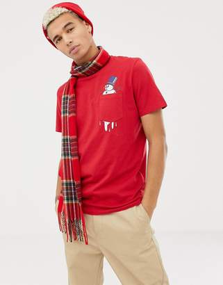 Jack and Jones Originals Holidays Snowman Pocket T-Shirt