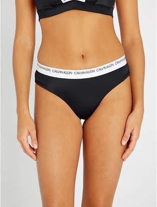 aa2b3c68a44ba Calvin Klein Brazilian low-rise bikini bottoms