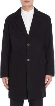 Ami Alexandre Mattiussi Black Wool Overcoat