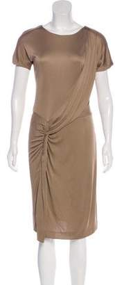 Gucci Drape-Accented Knee-Length Dress