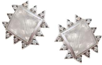 Coomi Silver Vitality Diamond, Moonstone & Sterling Silver Stud Earrings