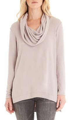 Women's Michael Stars Cowl Neck High/low Tunic Sweater $118 thestylecure.com