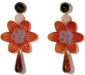Lizzie Fortunato Sal Flower Drop Earrings