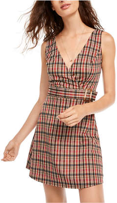 B. Darlin Juniors' Plaid Jumper Dress