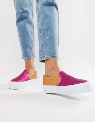 Asos DESIGN Deacon chunky slip on plimsolls