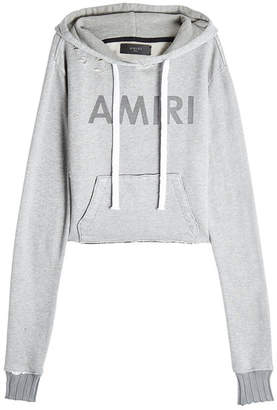 Amiri Distressed Hoody with Cotton