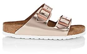 Birkenstock Women's Arizona Patent Leather Double-Buckle Sandals-Rose Gold