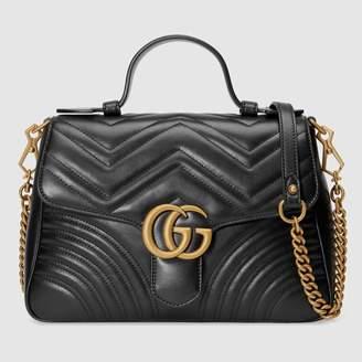 Gucci (グッチ) - 〔GGマーモント〕スモール トップハンドルバッグ