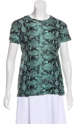 Proenza Schouler Printed Short Sleeve T-Shirt