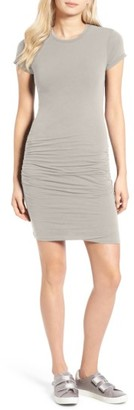 Women's James Perse Ruched Stretch Cotton Dress $225 thestylecure.com