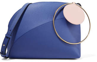 Roksanda Eartha Medium Color-block Textured-leather Shoulder Bag - Bright blue