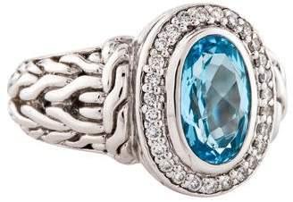John Hardy Topaz & Diamond Cocktail Ring