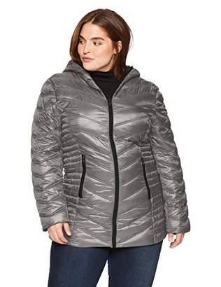 Celsius Women's Plus Size Lightweight Hip Length Quilted Wellon Jacket Outerwear