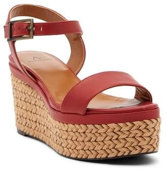 Aquatalia Cassidy Platform Wedge Leather Sandal