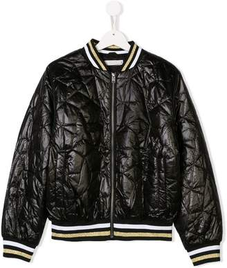 Stella McCartney TEEN quilted stars bomber jacket