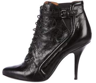 Givenchy Leather Lace-Up Ankle Boots