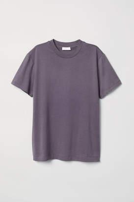H&M Silk-blend Jersey Top - Purple