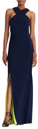 Lauren Ralph Lauren Cutout Back Jersey Gown $180 thestylecure.com