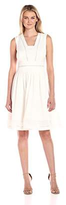 Tommy Hilfiger Women's Corded Sheer Fit and Flare Dress